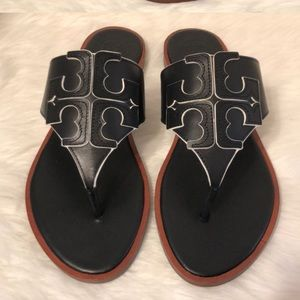 Tory Burch Jamie Full Logo Thong Sandals